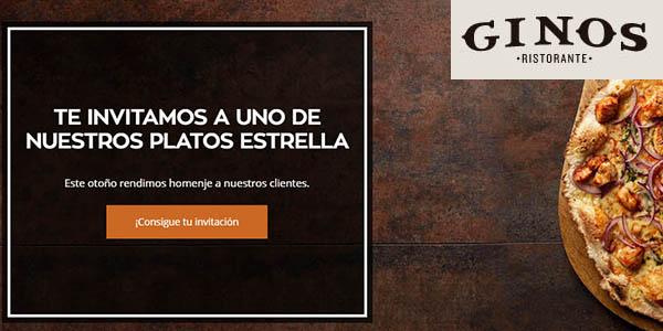 Ginos promoción plato estrella gratis