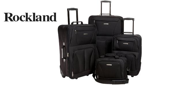 Juego de 4 maletas Rockland 4 PC Luggage Set en negro barato en Amazon