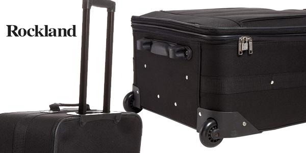 Juego de 4 maletas Rockland 4 PC Luggage Set en negro chollo en Amazon