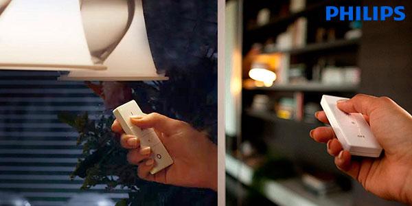 Kit Philips Hue White Ambiance con bombilla LED E27 e interruptor/mando barato