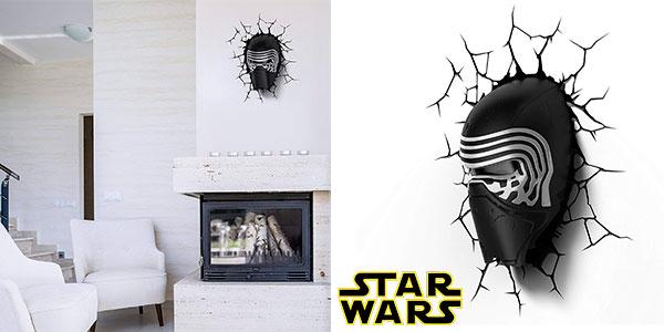 Lámpara LED 3D Star Wars Kylo Ren barata