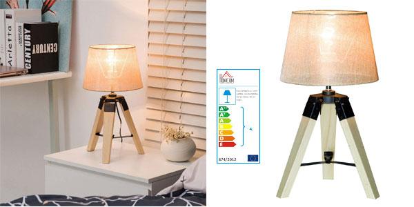 Lámpara de mesa moderna HomCom con pie trípode y casquillo E27 barata en eBay