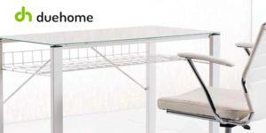 Mesa de escritorio Picture de DueHome con tablero de cristal templado barata en eBay