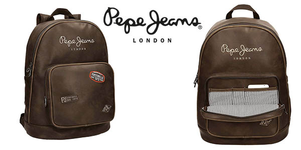 mochila Pepe Jeans Duetone con compartimento para portátil barata