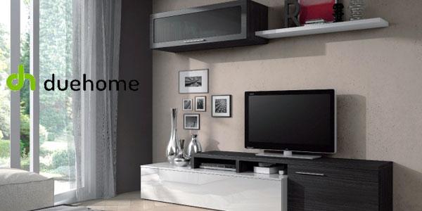 Mueble de comedor duehome en blanco brillo y gris ceniza barato en eBay