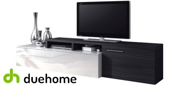 Mueble de comedor duehome en blanco brillo y gris ceniza chollo en eBay