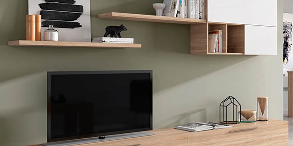 mueble con estantes y módulos para el salón DueHome Antara relación calidad-precio genial