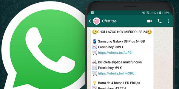 Chollos en Whatsapp con ofertitas
