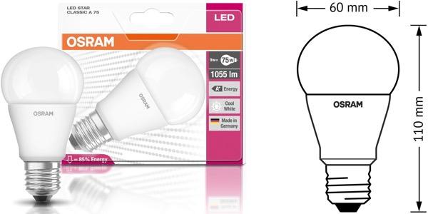 Pack de 6 bombillas LED Osram Classic Star barata