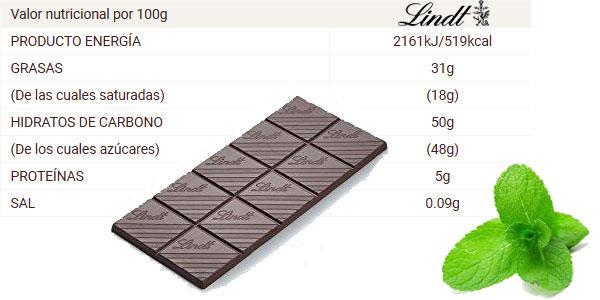 Pack x5 Tabletas Lindt chocolate negro con Menta chollo en Amazon