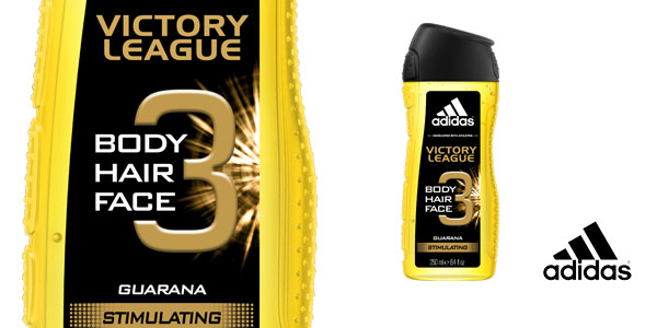 Pack 6 botes de gel de ducha Adidas Victory League Stimulating 3in1 chollo en Amazon