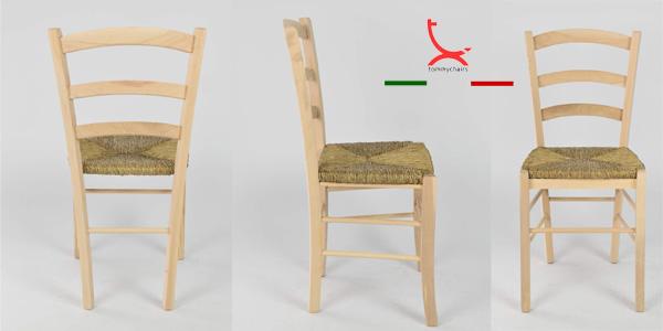 Set de 6 sillas de estilo clásico Paesana 32 by Tommychairs en madera natural de haya chollo en Amazon