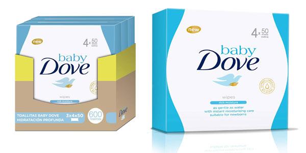 Pack 600 toallitas húmedas Baby Dove baratas en Amazon