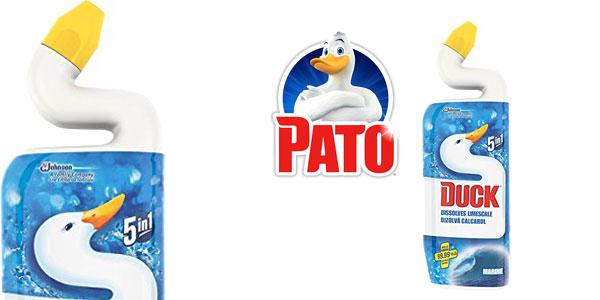 Pack x8 Limpiador desinfectante Pato WC Liquid Marine 5-en-1 barato en Amazon