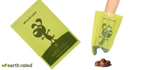 Pack de 270 bolsas Earth Rated sin olor para recoger excrementos de perro chollazo en Amazon