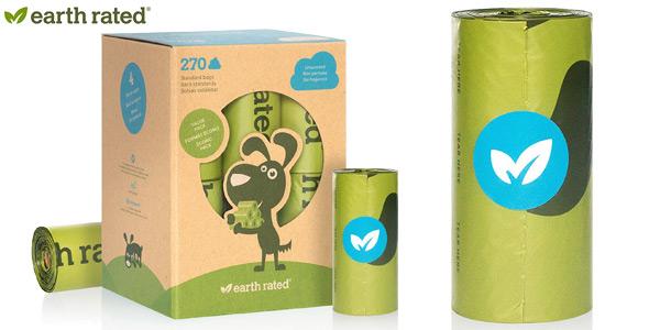 bolsas Earth Rated sin olor para recoger excrementos de perro chollo en Amazon