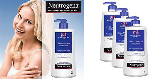 pack crema hidratante Neutrogena para pieles secas barato