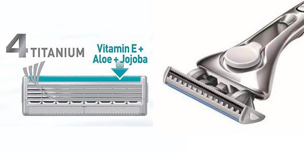 pack de recambios cuchillas Wilkinson Sword Quattro Titanium Sensitive oferta Amazon