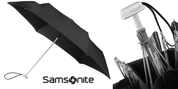 Paraguas unisex Samsonite Alu Drop de aluminio negro barato