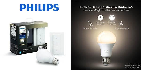 Philips Hue White bombilla con control inalámbrico barato