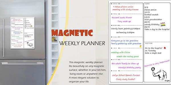 pizarra magnética para planificar el menú semanal chollo