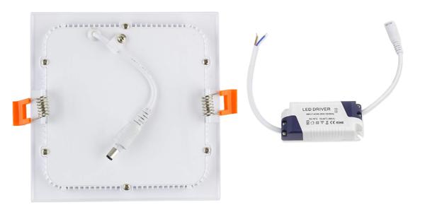 Placa LED Downlight Cuadrada SuperSlim 18W chollo en Amazon