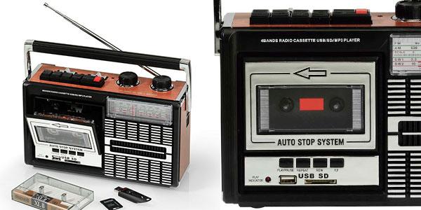 Chollo Radiocassette Ricatech PR85 grabador con USB