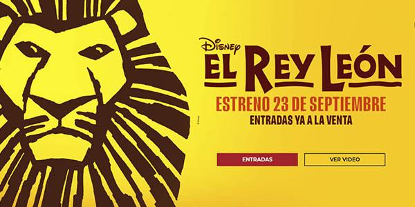 Rey León musical oferta entradas escapada