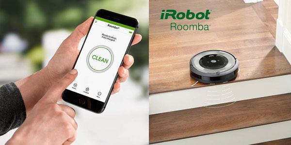 Robot aspirador Roomba e5154 optimizado para pelo de mascotas con WiFi y App chollazo en Amazon