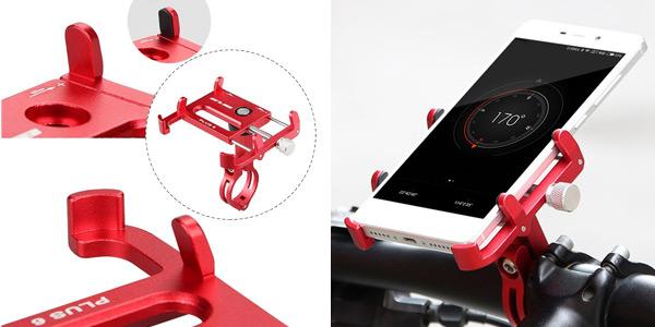 """Soporte de bicicleta Lixada GUB 6 profesional para smarthones de hasta 6,2"""" en varios colores barato en Amazon"""