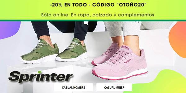 Sprinter promoción deporte con cupón descuento OTOÑO20