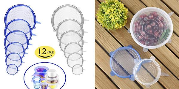 tapas de silicona para recipientes de cocina baratas