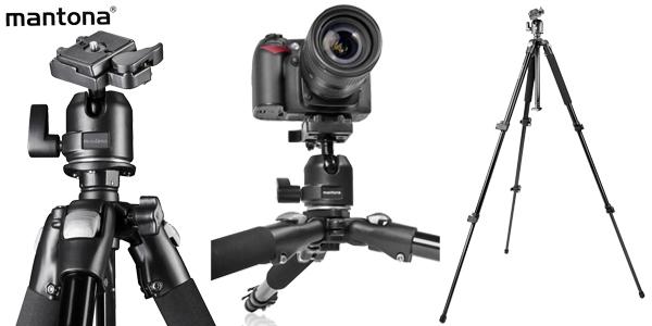 Trípode fotografía Mantona Pro Makro II de 151 cm chollo en Amazon