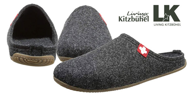 Zapatillas de estar por casa Living Kitzbühel en gris o negro para hombre chollazo en Amazon