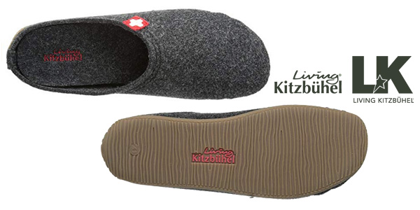 Zapatillas de estar por casa Living Kitzbühel en gris o negro para hombre chollo en Amazon