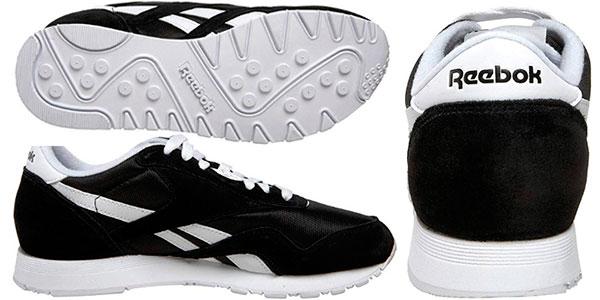 Zapatillas de deporte Reebok Classic Nylon de color negro para mujer baratas