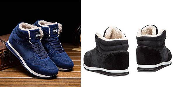 zapatillas con forro de invierno relación calidad-precio estupenda