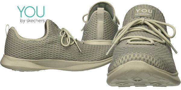 Zapatillas Skechers Serene-Tranquility color gris chollo en Amazon