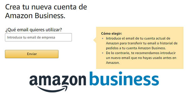 Amazon Business cuenta para empresas