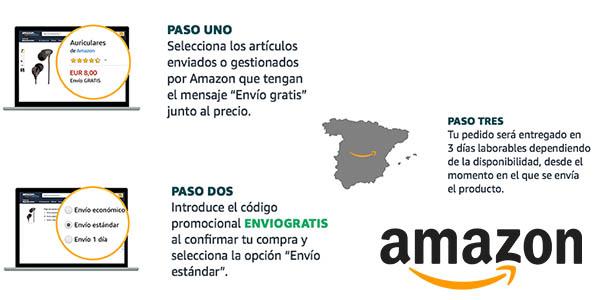 Amazon envío gratis con cupón descuento noviembre 2018