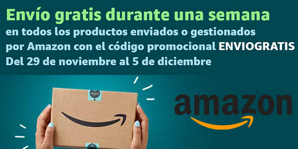 Amazon España cupón promocional ENVIOGRATIS