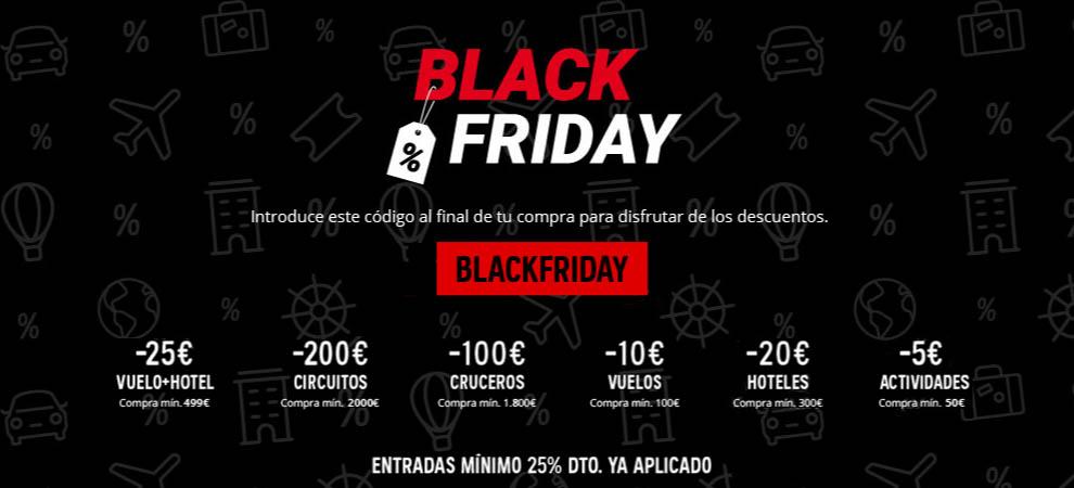 Atrápalo cupón descuento Black Friday 2020