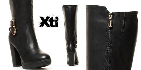 Botas altas Xti Lena de tacón o de cuña en color negro para mujer chollo en eBay