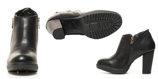 botines de tacón de cuero sintético Xti Sara oferta