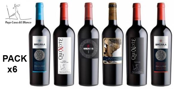 Caja 6 botellas Vino Tinto Bodegas Pago Casa del Blanco Edición Limitada Black Friday barato en eBay