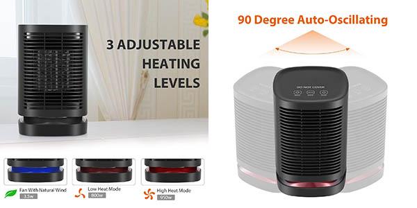 calefactor cerámico pequeño portátil Nexgadget relación calidad-precio genial