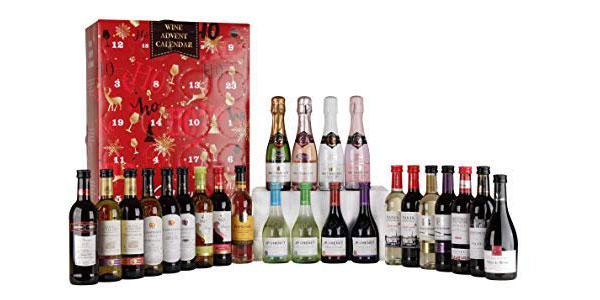 Calendario de adviento de 24 mini botellas de vino del mundo barato en Amazon