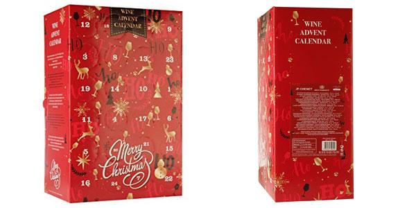 Calendario de adviento de 24 mini botellas de vino del mundo chollo en Amazon