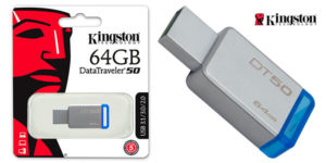 Chollo Memoria USB 3.0 Kingston DataTraveler DT50 de 64 GB