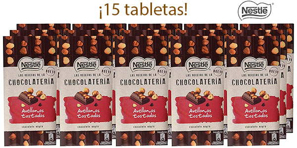 Chollo Pack de 15 tabletas Nestlé de chocolate negro y avellanas